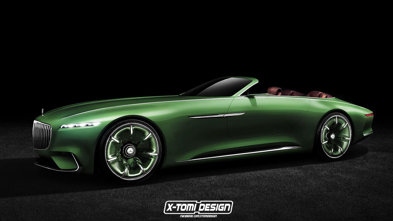 rendering der woche: mercedes-benz vision maybach 6 cabriolet