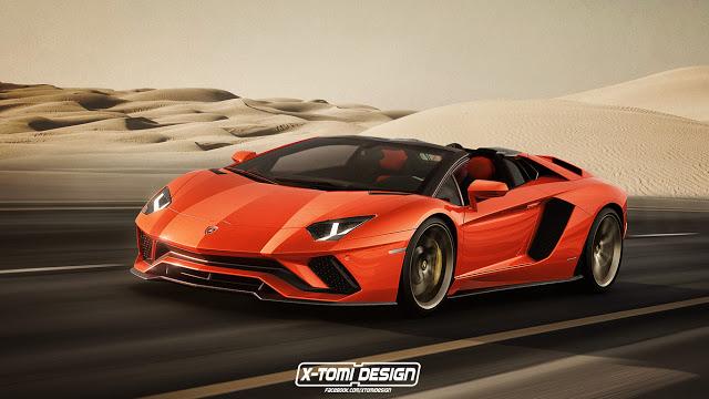 Lamborghini Aventador S Roadster. Rendering von x-tomi Design