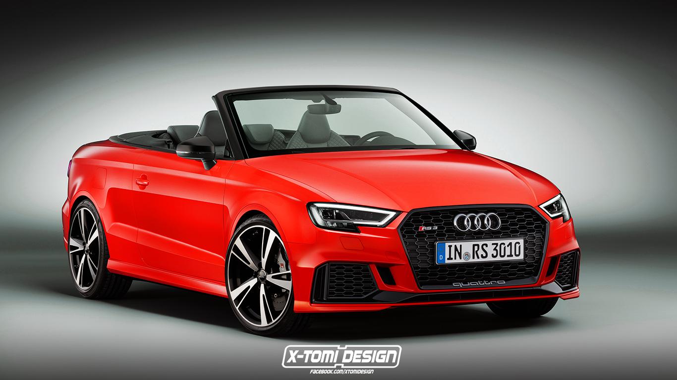 Audi RS3 Cabriolet. Rendering von x-Tomi Design