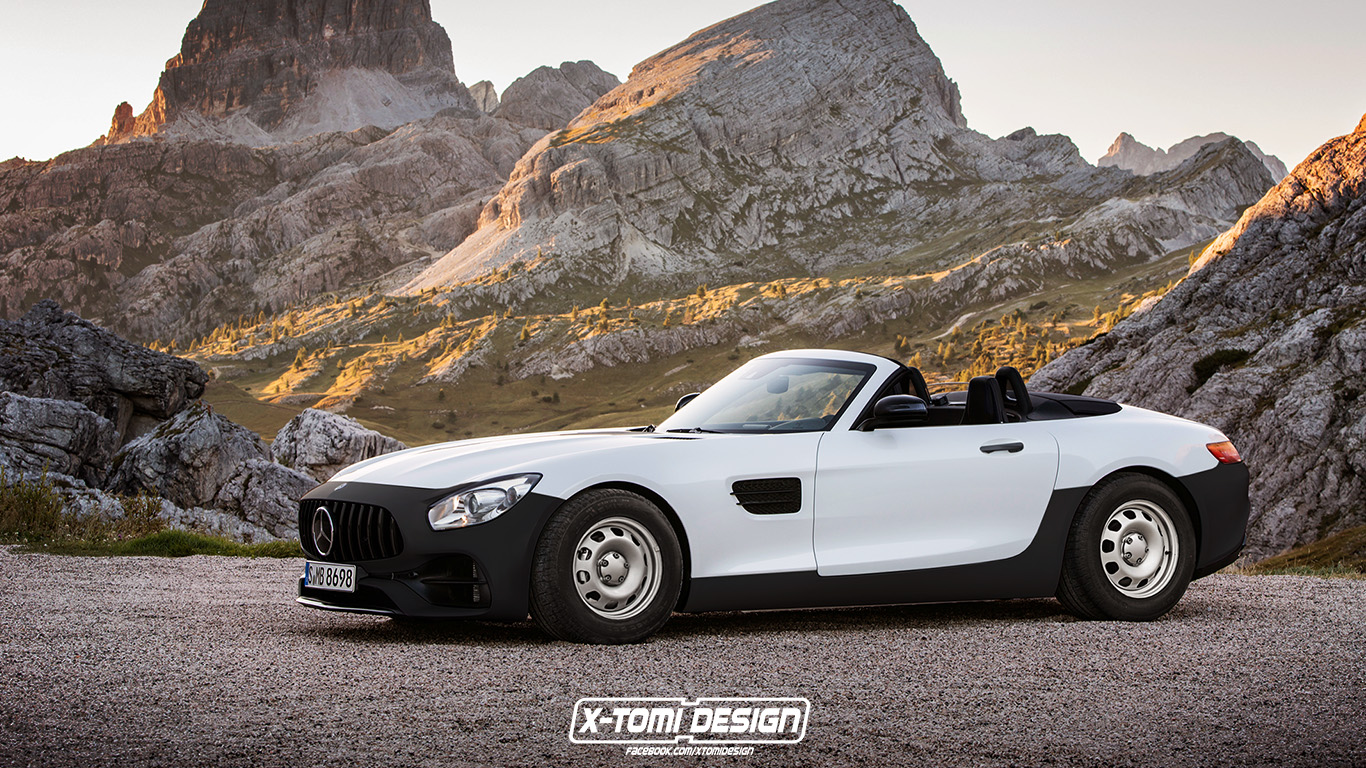 Mercedes-Benz AMG GT Roadster Base Spec. Rendering von X-Tomi Design