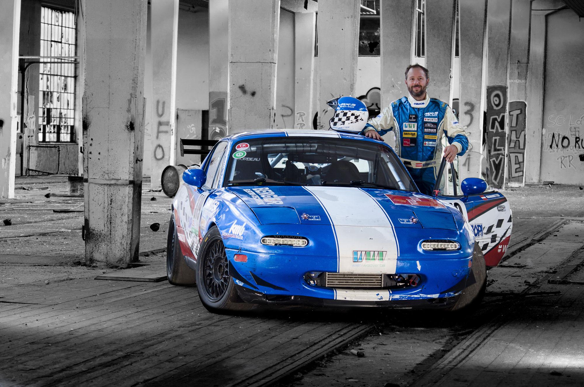 Projekt Mazda MX-fight. Mario Kranabetter im Rundstrecken-MX-5
