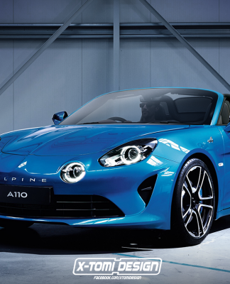 Alpine A110 Cabriolet Rendering ©xtomi