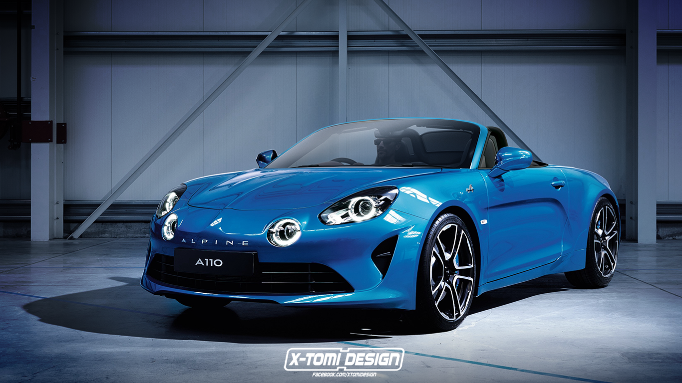 rendering alpine a110 cabriolet roadster magazin. Black Bedroom Furniture Sets. Home Design Ideas