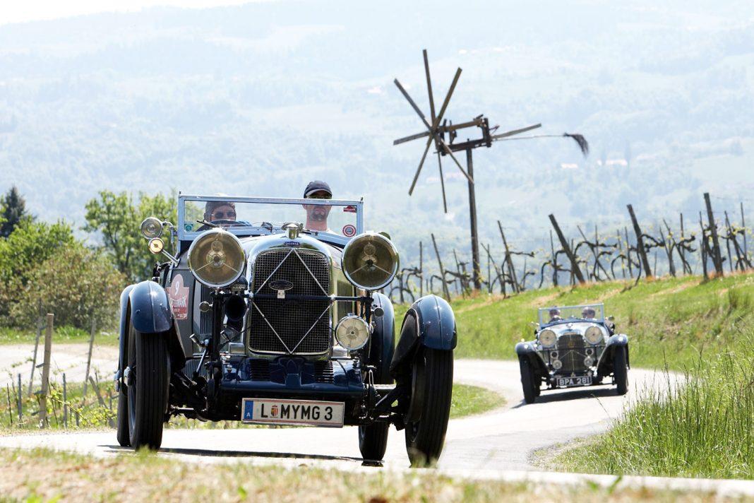 Durch die lieblichen Landschaften der südlichen Steiermark führt die Oldtimer Rallye im April