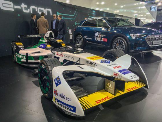 Elektroauto auf Schnell. Der Auto e-tron wird vom italienischen, ehemaligen Formel 1 Fahrer Lucas Di Grassi in der Formula E eingesetzt. Foto: © Mario Kranabetter 2019
