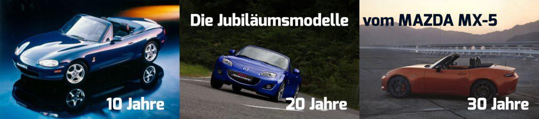 Die Jubiläumsmodelle des Mazda MX-5.