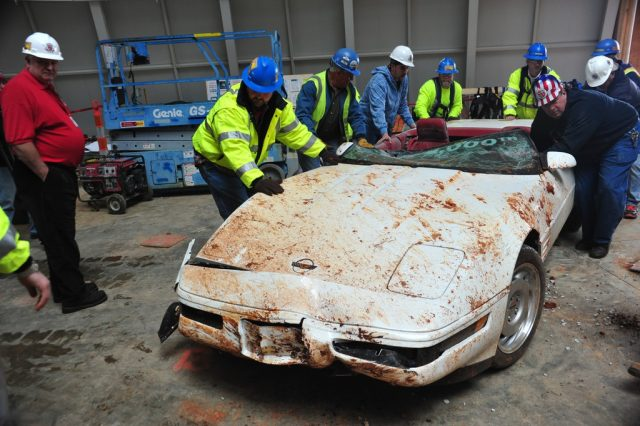 Einmillionste Chevrolet Corvette: War einst ein schönes Auto und wird es wieder werden. Foto: Auto-Medienportal.Net/National Corvette Museum