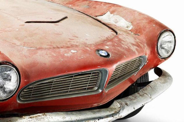 BMW 507: Der Zahn der Zeit hat ganze Arbeit geleistet. Foto: BMW