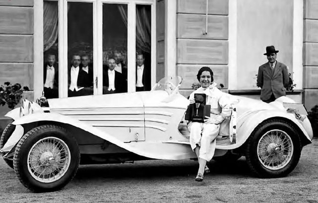 "Josette Pozzo gewann mit dem Alfa Romeo 6C 1750 GS Touring ""Flying Star"" den Concours d'Elegance in der Villa d'Este im Jahr 1931. Foto: Auto-Medienportal.Net/FCA"