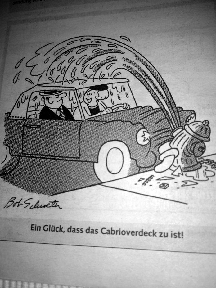 Cabriowitz: Ein Glück, dass das Cabrioverdeck zu ist!
