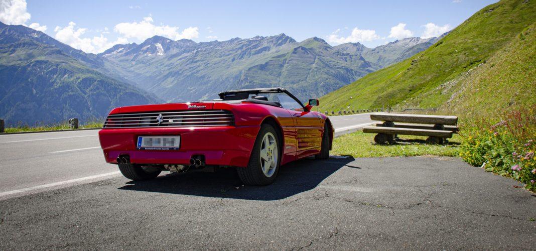 Mit dem Ferrari 348 Spider auf der Großglockner Hochalpenstraße