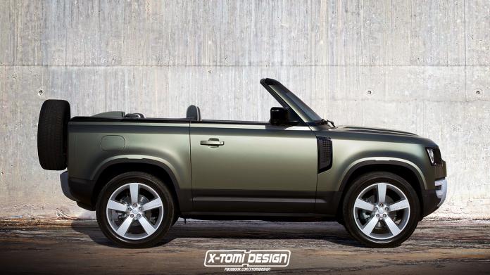 Rendering: Land Rover Defender Cabrio
